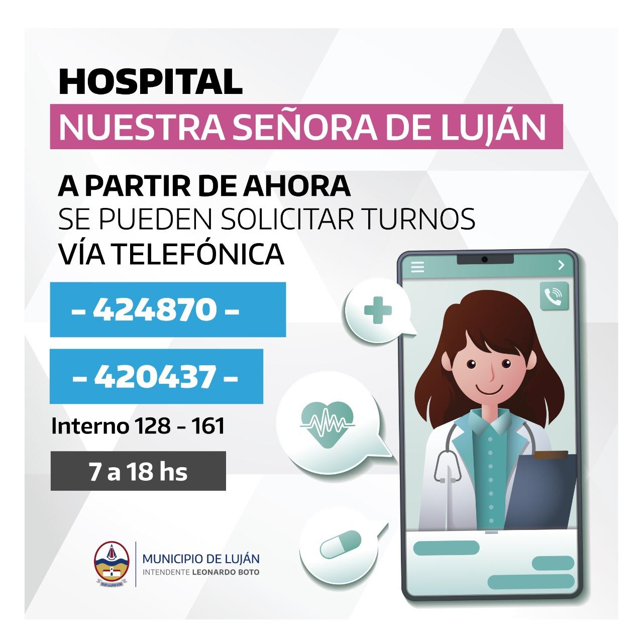 Hospital: ya se pueden sacar turnos vía telefónica - [Noticias de Luján] -  Bisemanario El Civismo